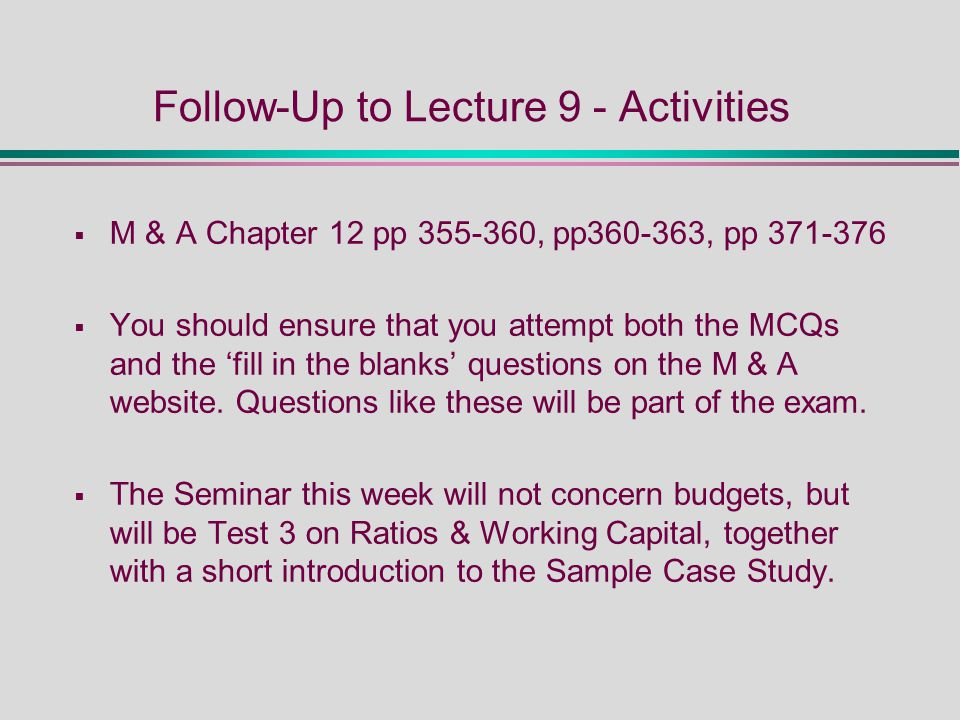 chapter 16 working capital management test Accounting fundamentals for health care management  viii accounting fundamentals for health care  chapter 15 working capital management.