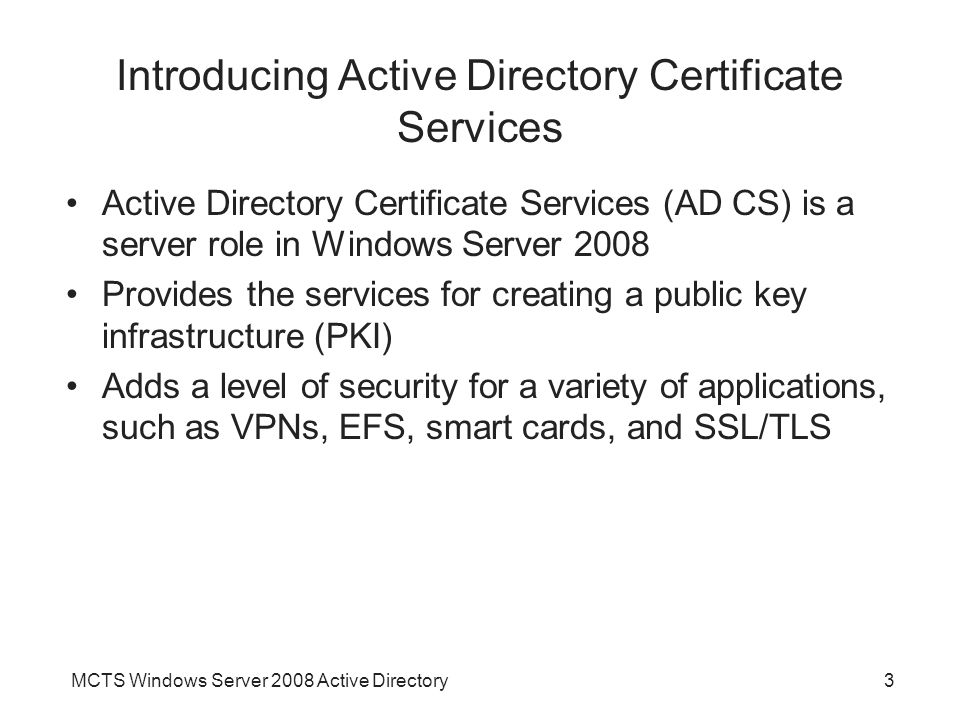 Introducing Active Directory Certificate Services