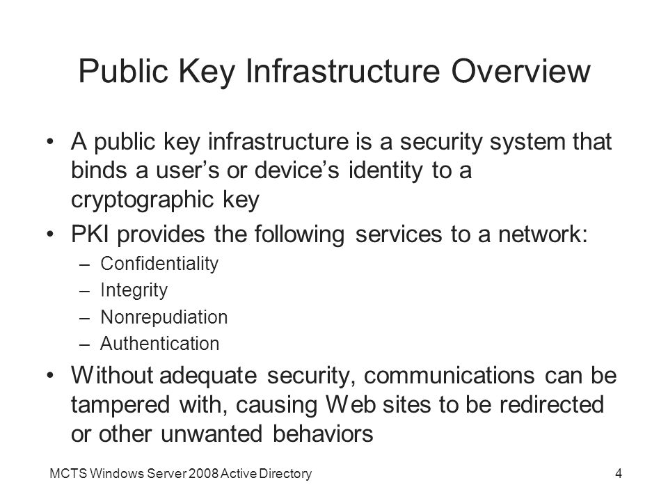 Public Key Infrastructure Overview