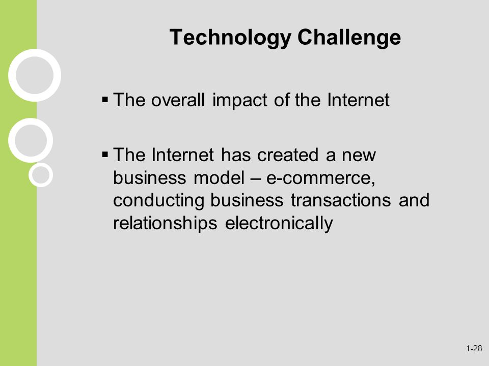 impact of the internet in our Technological advancements and its impact on humanity author  the internet allows for our humanity in endurance and concentration,.