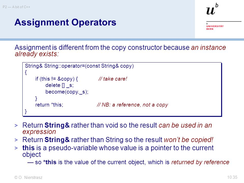 C Assignment Operators