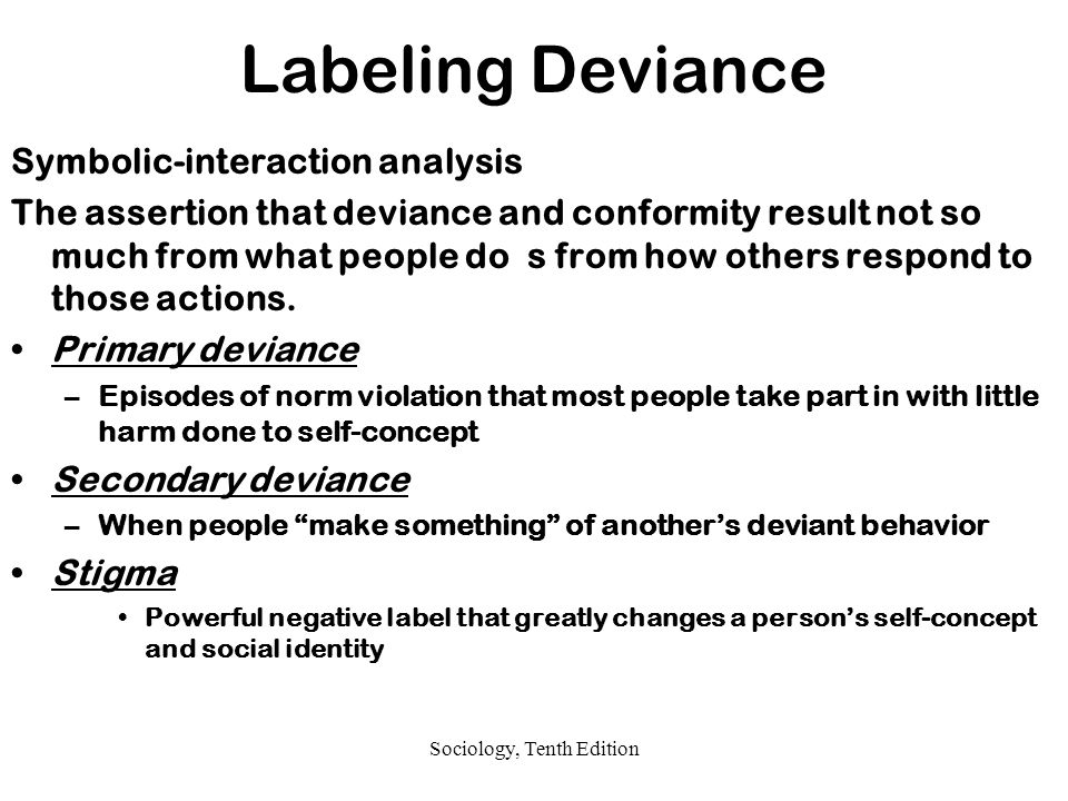 Sociology and deviance deviant