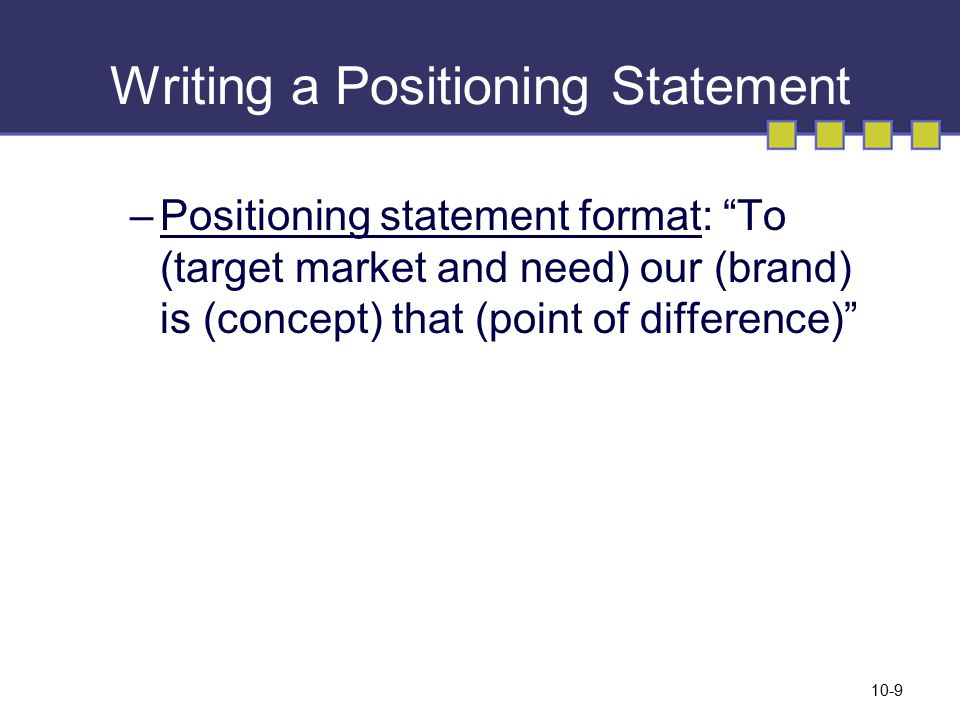 How to Write a Brand Positioning Statement