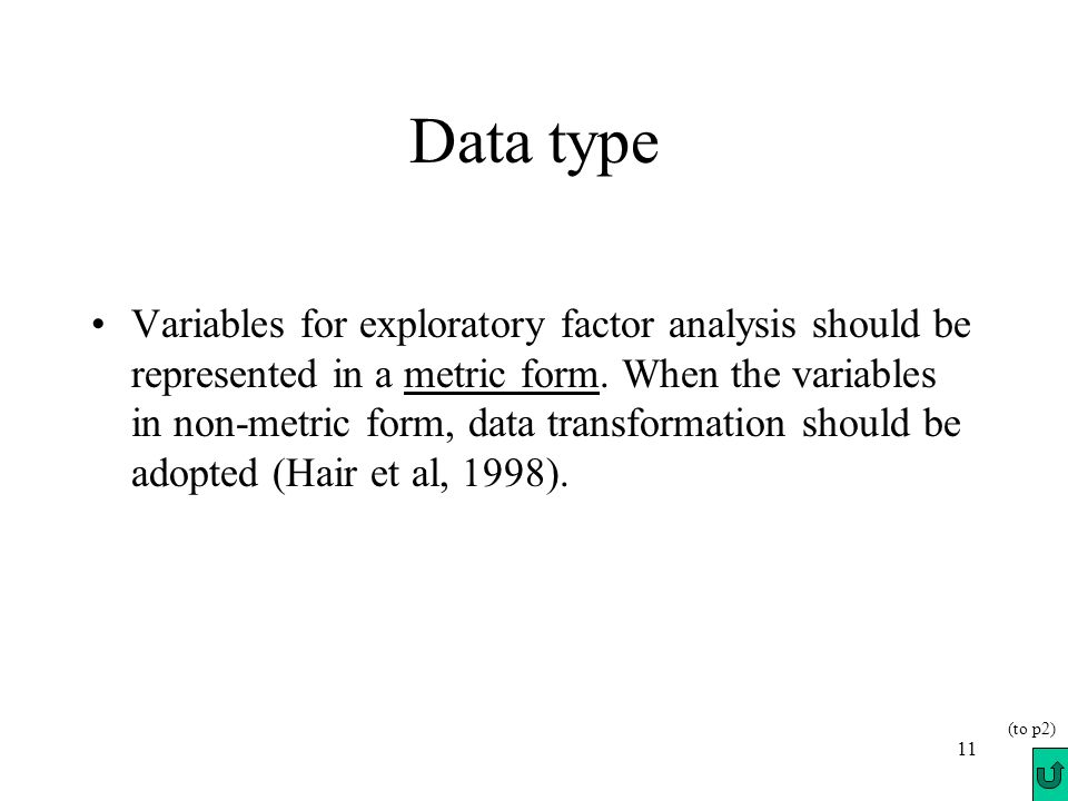 factor analysis there are two types of factor
