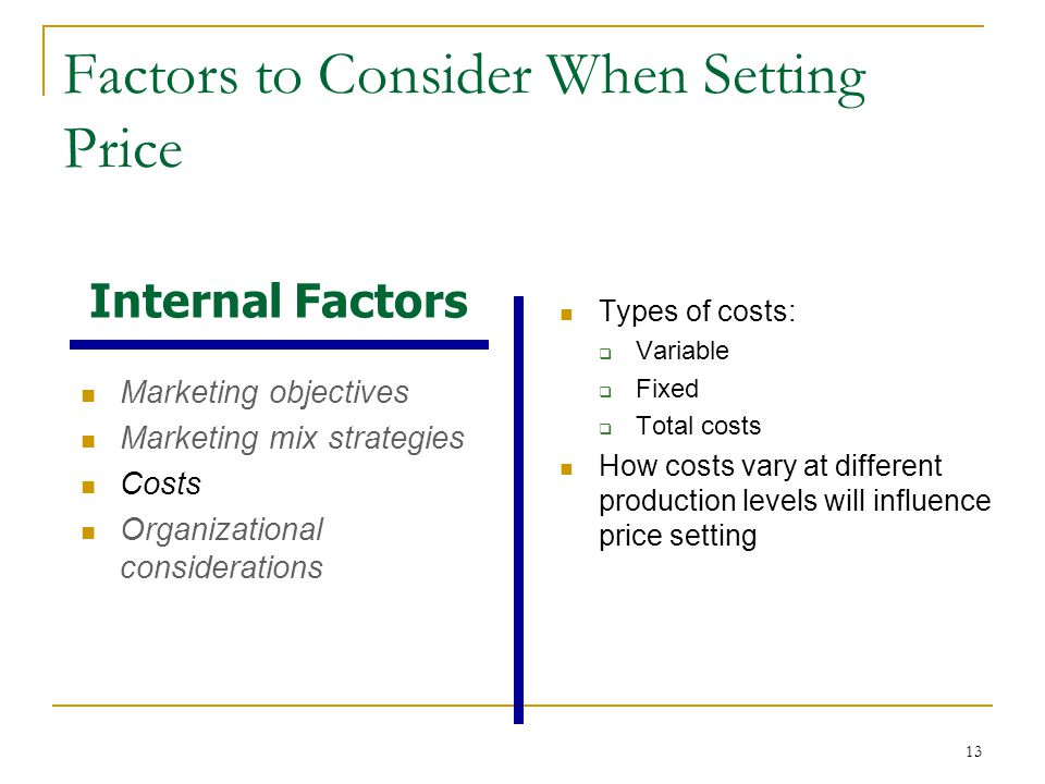 Variable or fixed factors