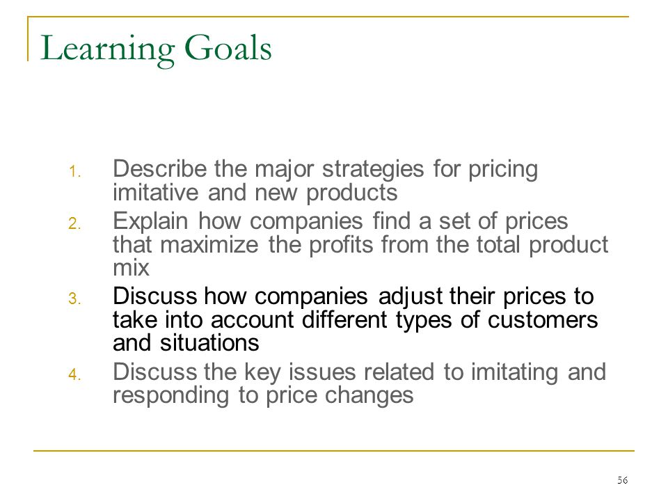 pricing strategy for new products pdf