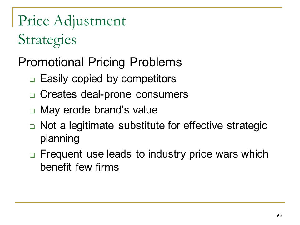 discuss price adjustment strategies wit Most products are part of a product mix they must be priced accordingly we will explain the 5 product mix pricing strategies - at marketing-insider.