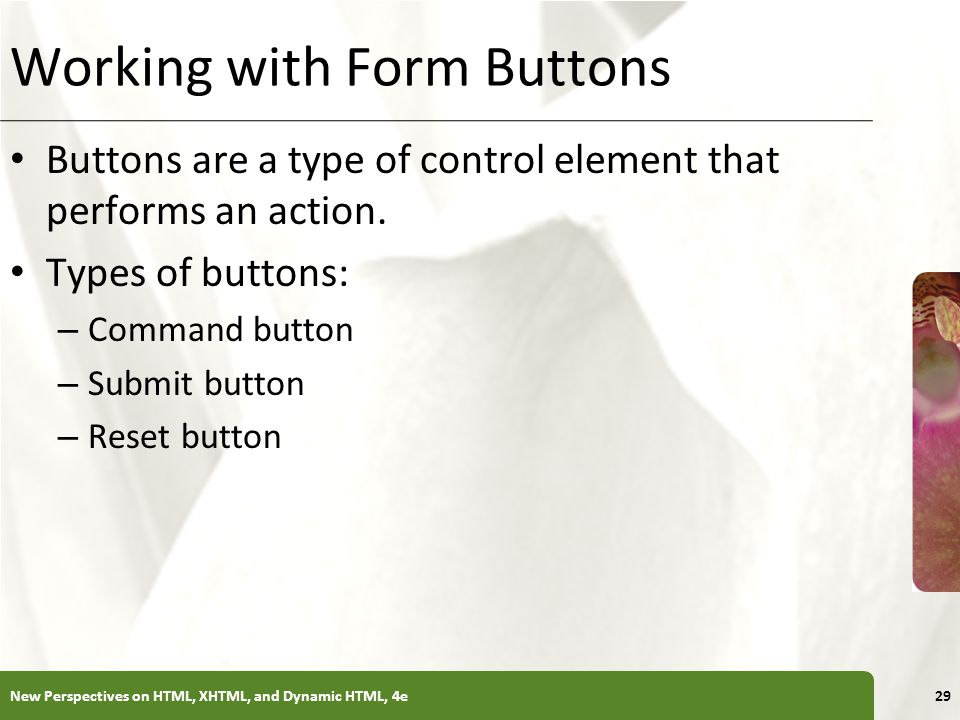 Working with Form Buttons
