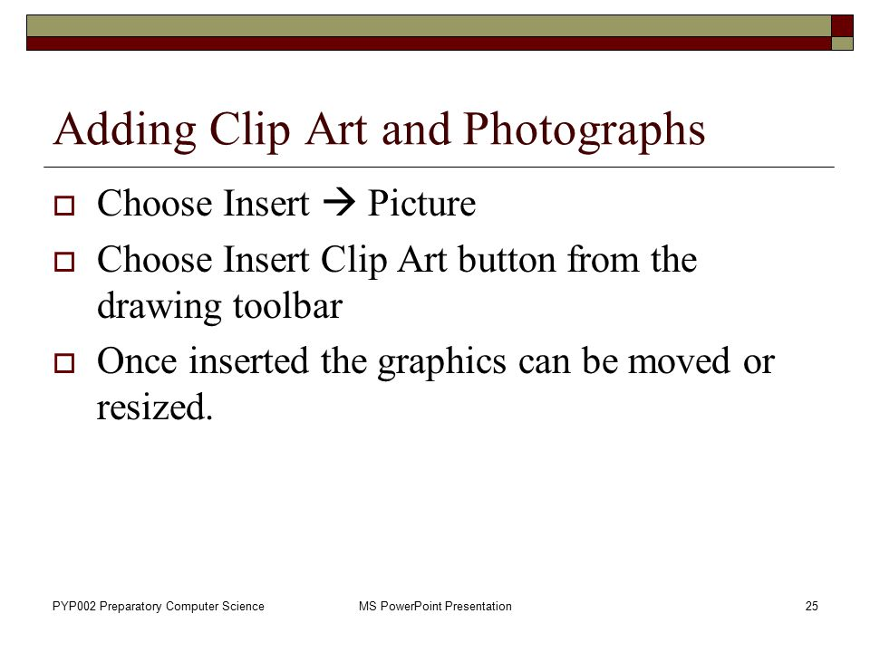Adding Clip Art and Photographs