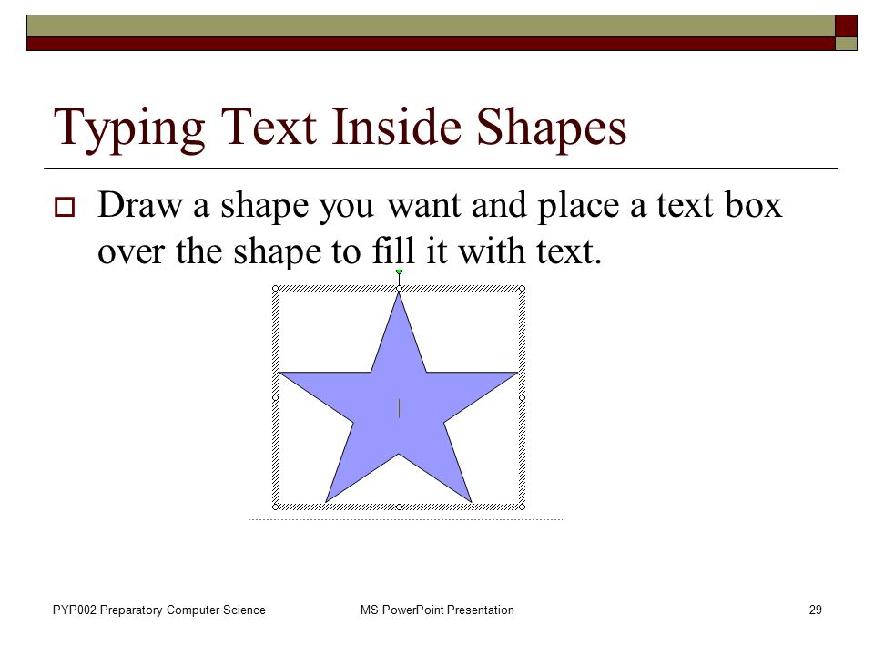 Typing Text Inside Shapes