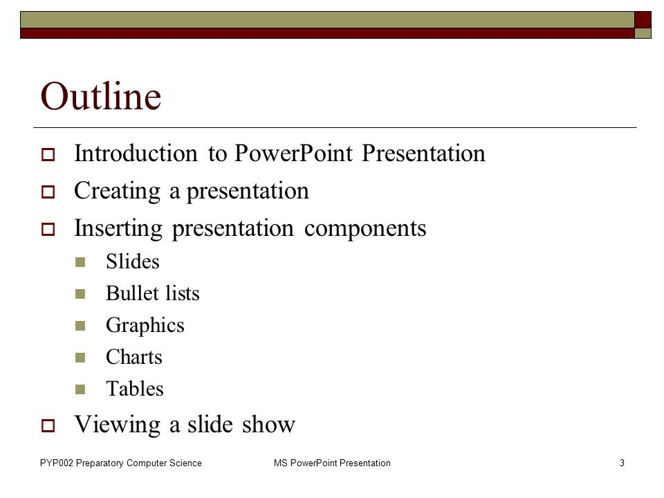 MS PowerPoint Presentation