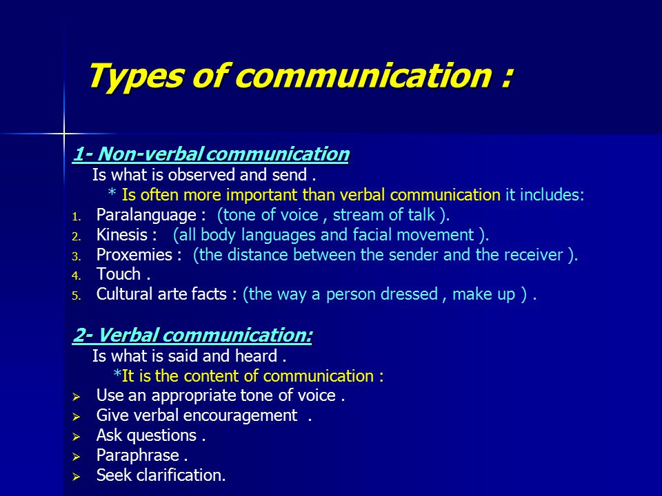therapeutic communication is a type of Communication is the sharing of messages between individuals it may be transmitted orally, by the written word or by the use of body language therapeutic communication is a tool employed by health professionals to facilitate discussion with the patient.
