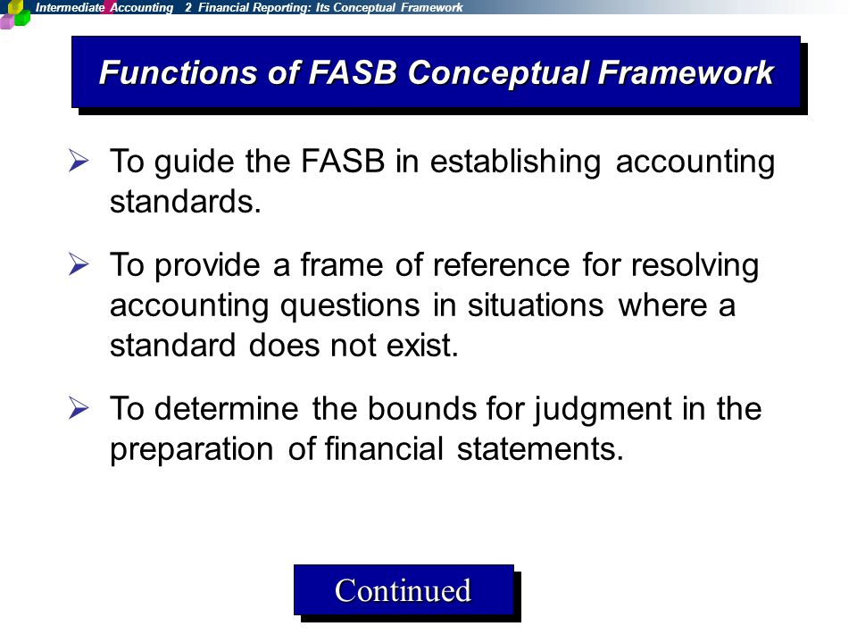 I 2 Financial Reporting: Its Conceptual Framework - ppt download