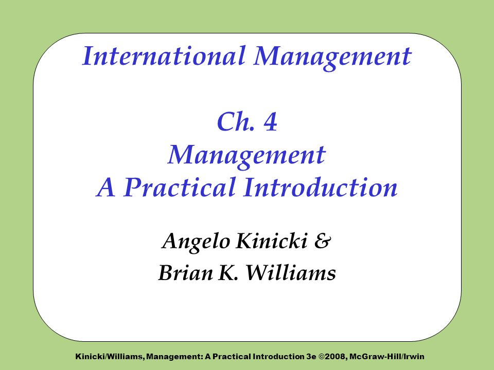 international management chapter 1 deresky International management, 7e (deresky) chapter 2: managing interdependence social responsibility and ethics 1) the most significant issue raised by the primark situation is that ________.