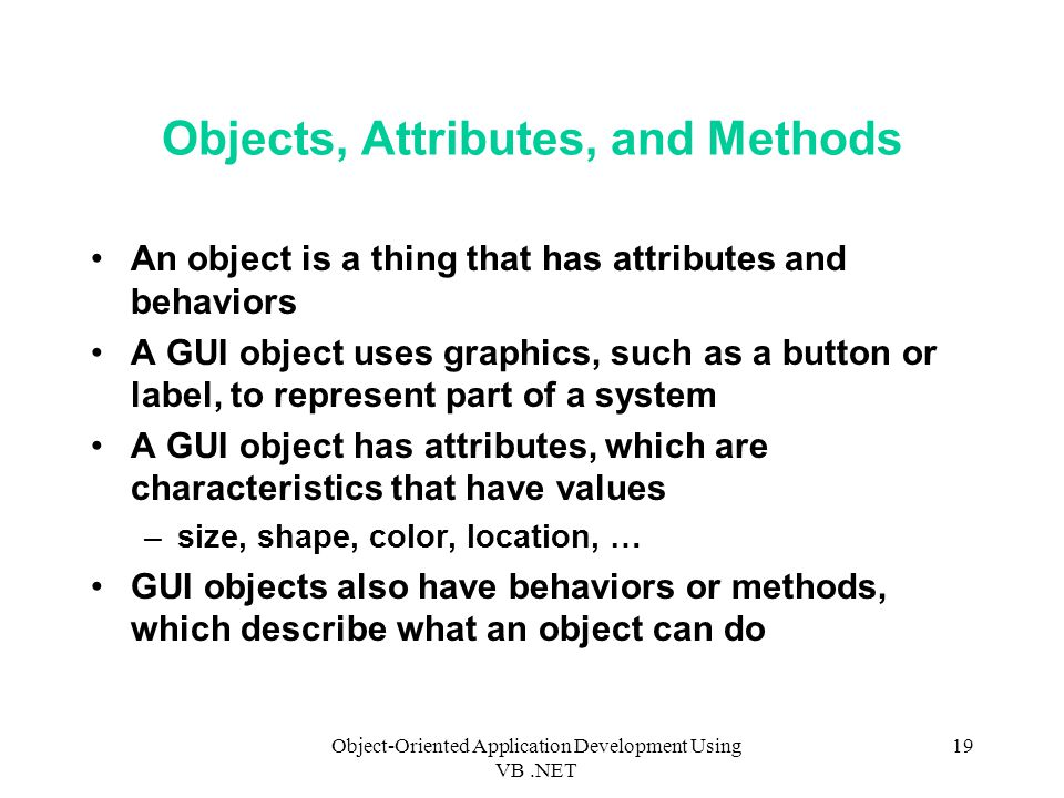 Objects, Attributes, and Methods