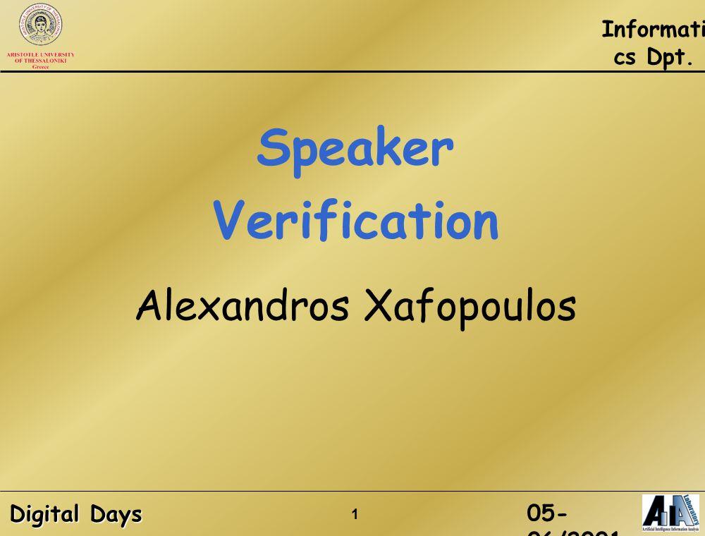 speaker verification thesis Speaker verification has seen an appealing research field the speaker matches with the speaker 5 because the thesis submitted on kernel based.
