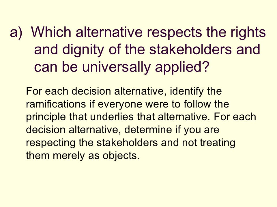 http://slideplayer.com/4983830/16/images/27/a%29+Which+alternative+respects+the+rights+and+dignity+of+the+stakeholders+and+can+be+universally+applied.jpg