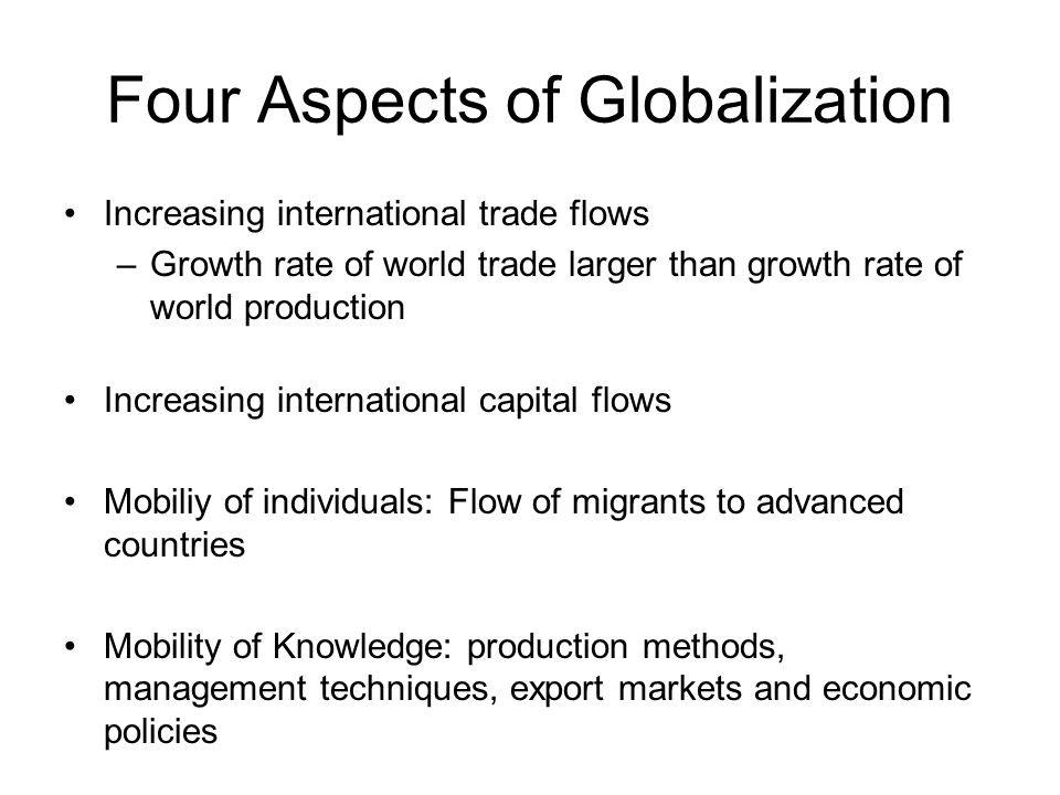 Globalization and International Investment