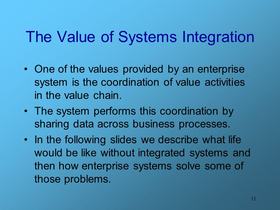 The Value of Systems Integration