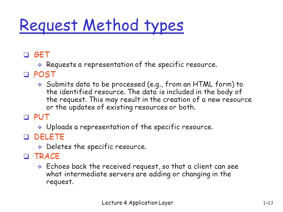 Lecture 4 Application Layer