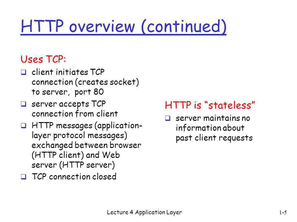 HTTP overview (continued)