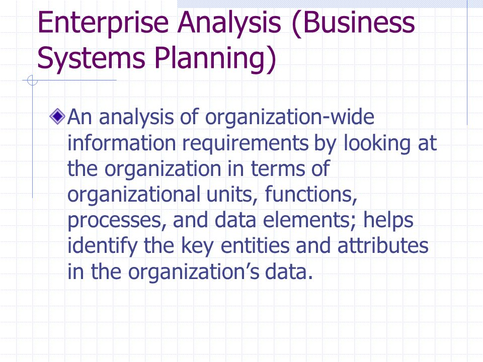 an analysis of planning for management information system Kjb management information needs  kjb databases and systems it describes the analysis of the  strategic information systems plan for kwangju bank strategic.