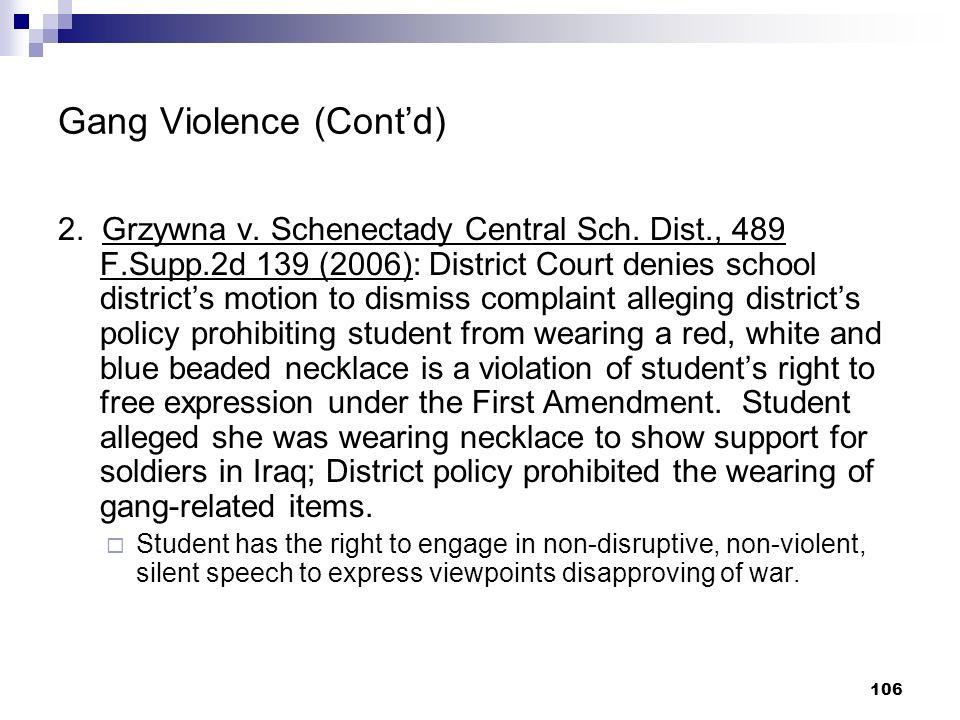 Gang Violence (Cont'd)