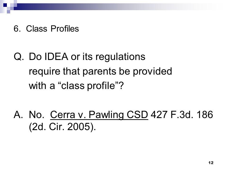 6. Class Profiles