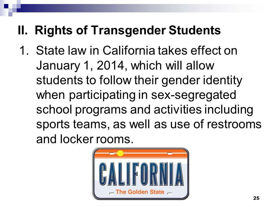 II. Rights of Transgender Students