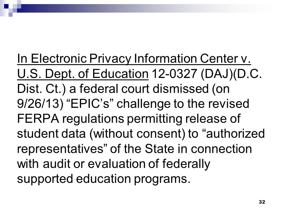 In Electronic Privacy Information Center v. U. S. Dept