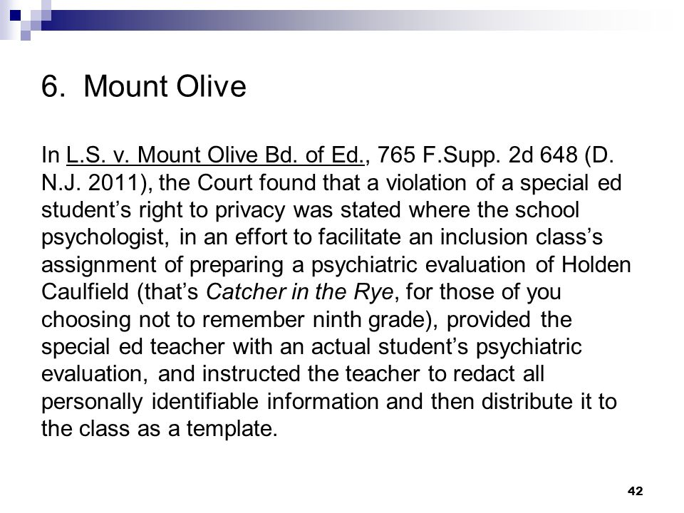 6. Mount Olive