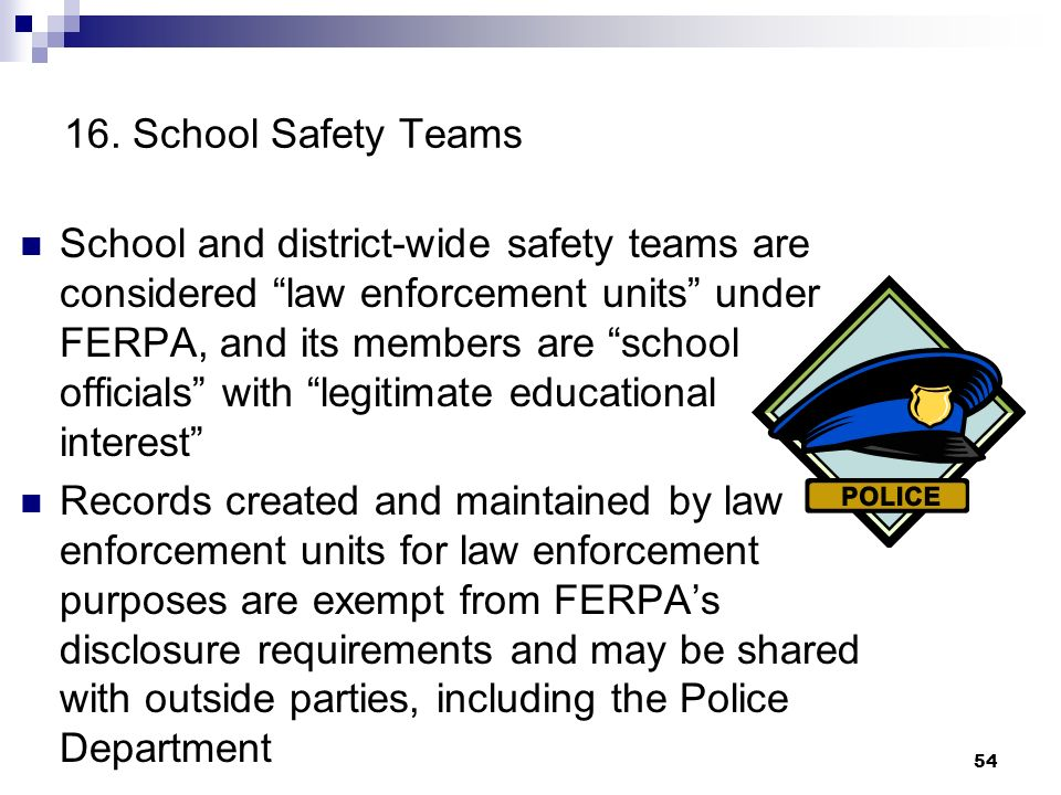 16. School Safety Teams