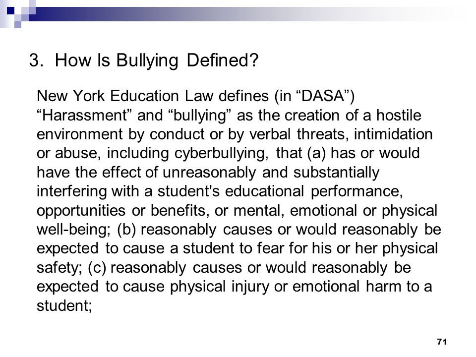 3. How Is Bullying Defined