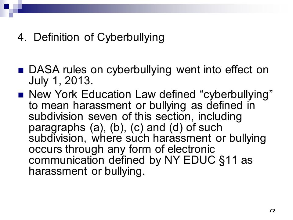 4. Definition of Cyberbullying