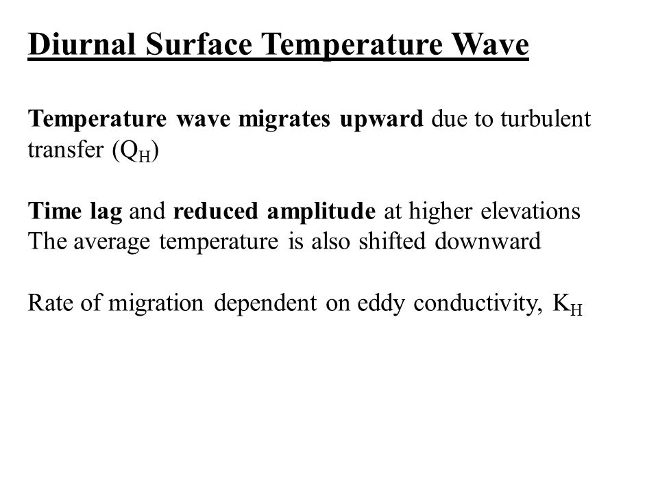 Diurnal Surface Temperature Wave