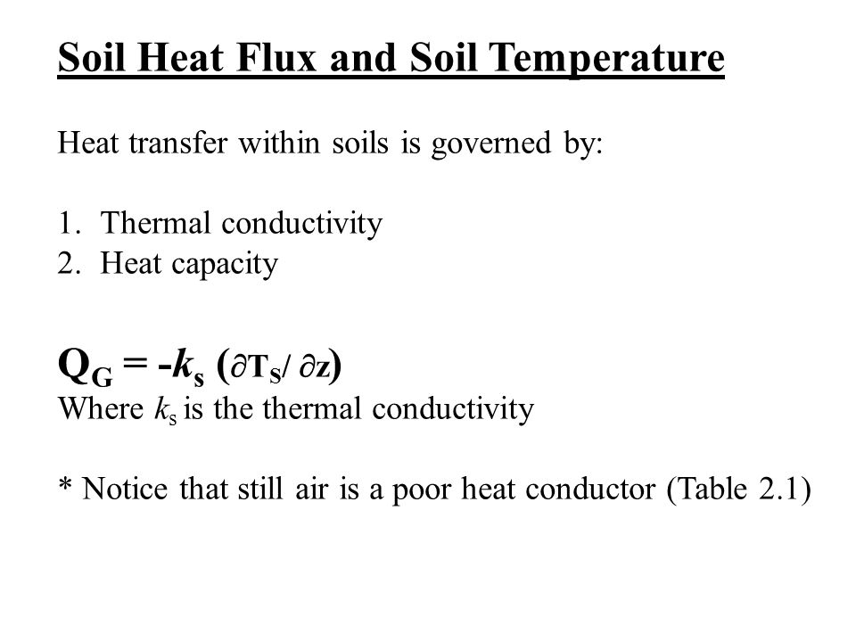 Soil Heat Flux and Soil Temperature