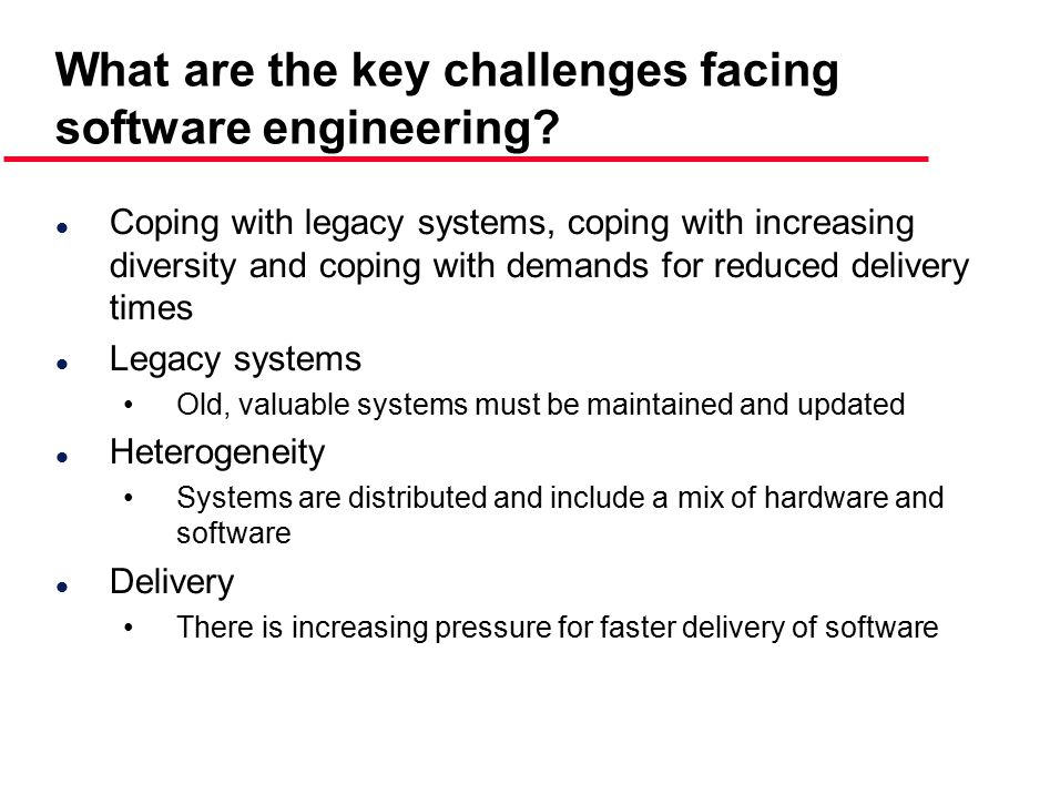 What are the key challenges facing software engineering
