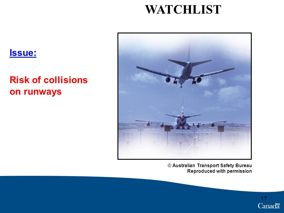 The issue of safety in airplane transportation