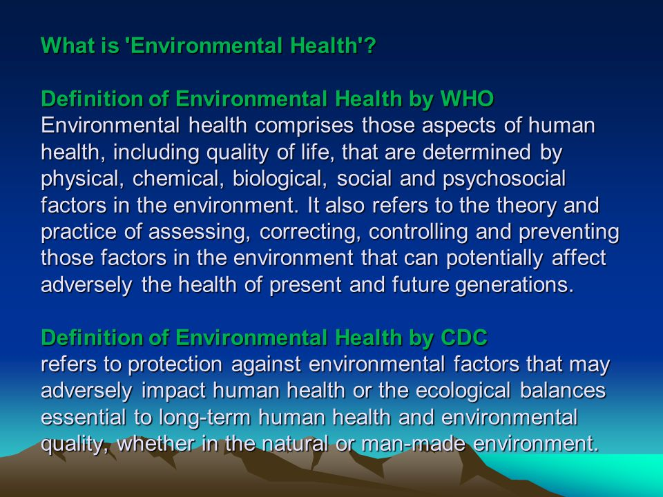a definition of the environment