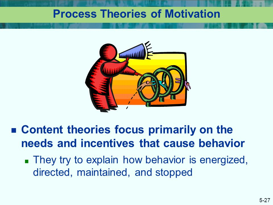 an analysis of the process theories focus on how behavior is energized and directed