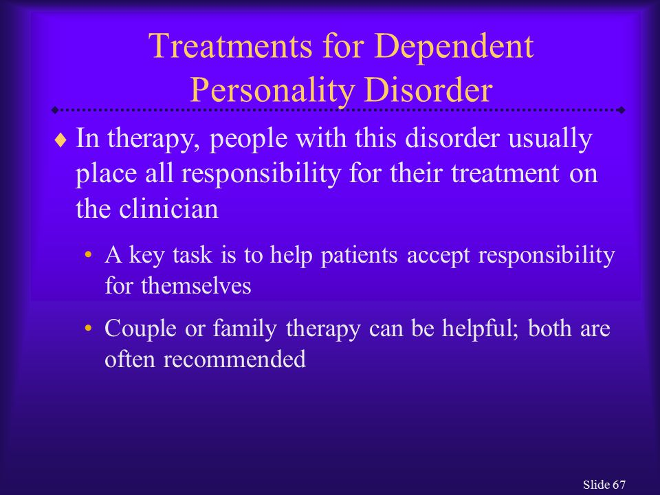dependent personality disorder treatment pdf