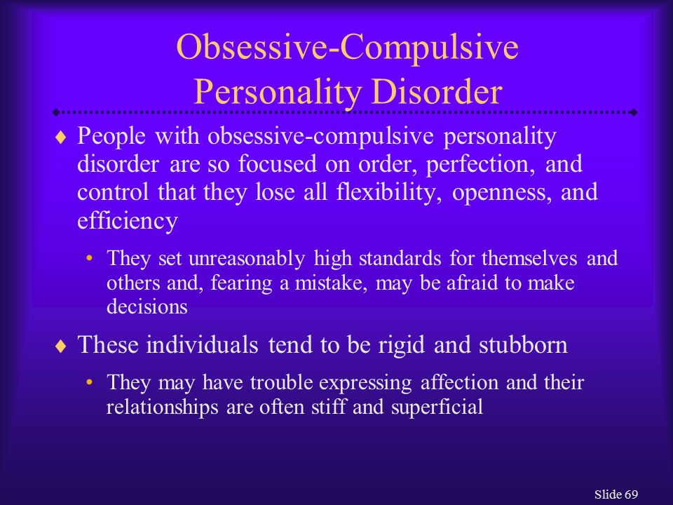 Obsessive-compulsive personality disorder legal definition ...