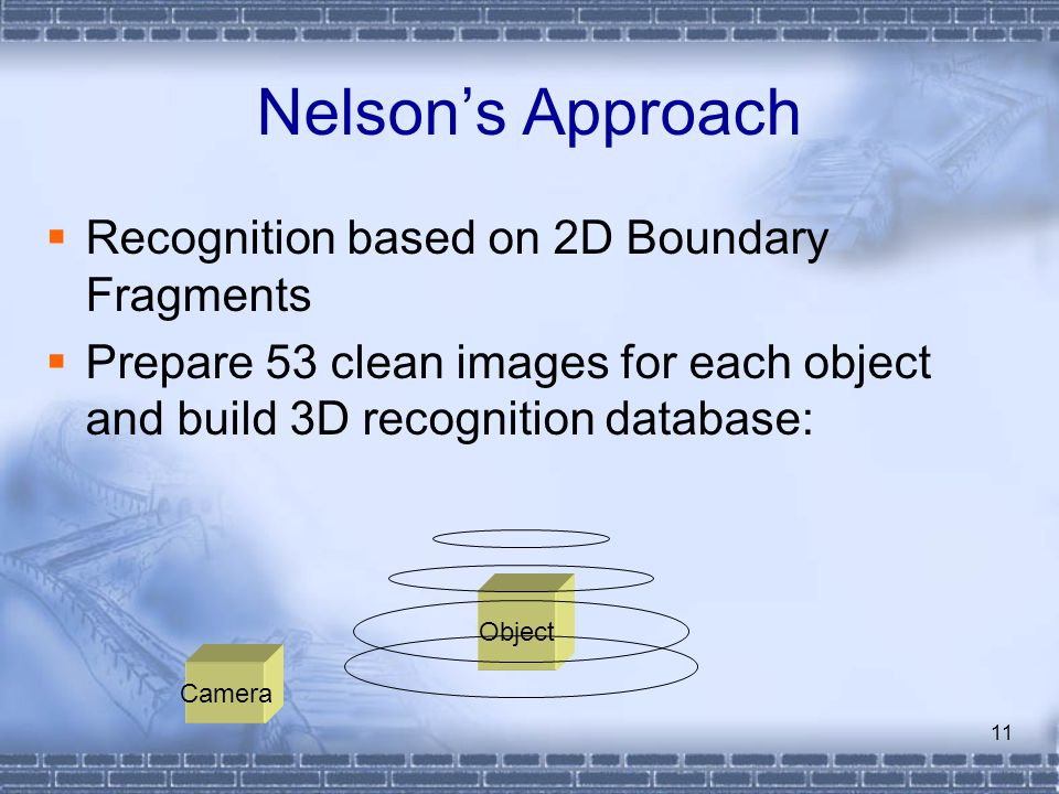 Nelson's Approach Recognition based on 2D Boundary Fragments