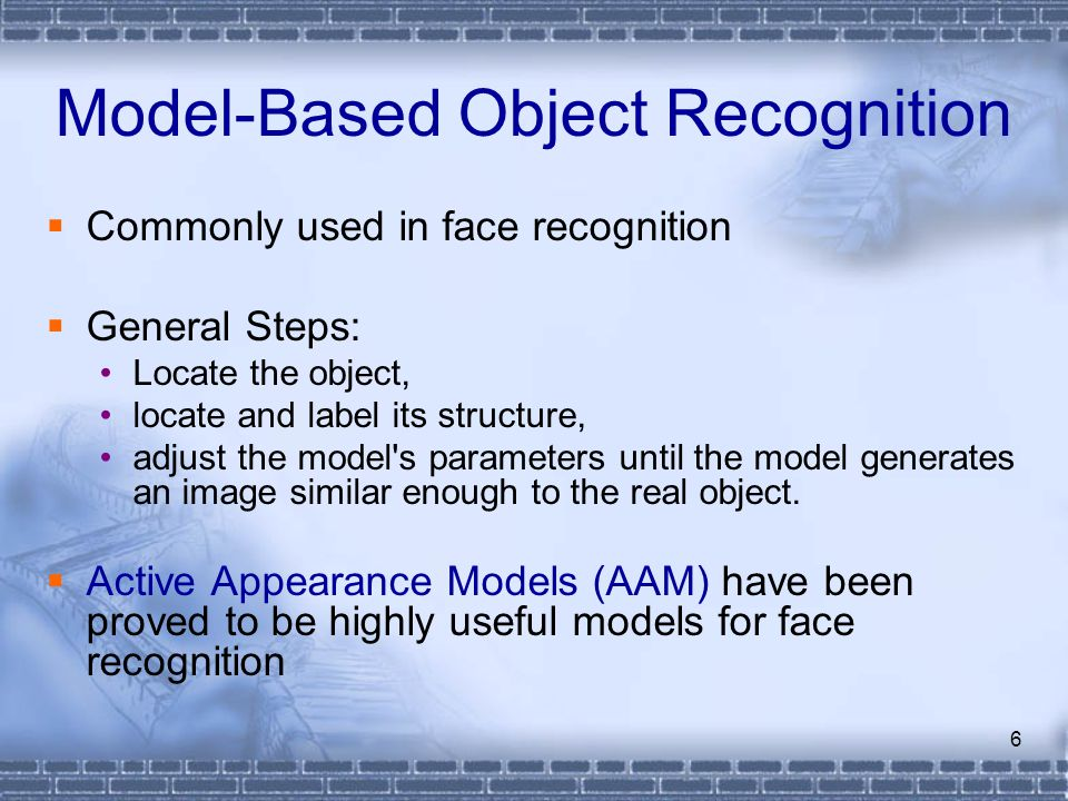 Model-Based Object Recognition