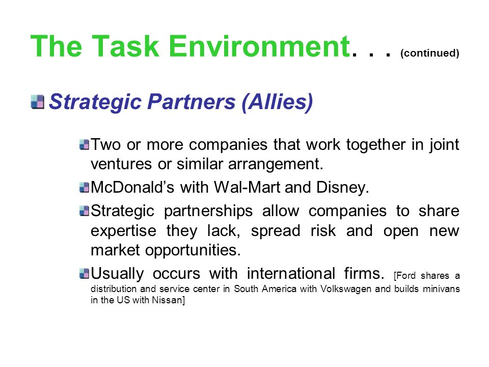 mcdonalds task environment Once you become accustomed to the fast pace of your work environment, look for ways you can successfully multi-task or shave time from different areas finding ways to slow the hectic nature of your work environment, even while the action is still swirling around you, can help you become more efficient in your overall job performance.