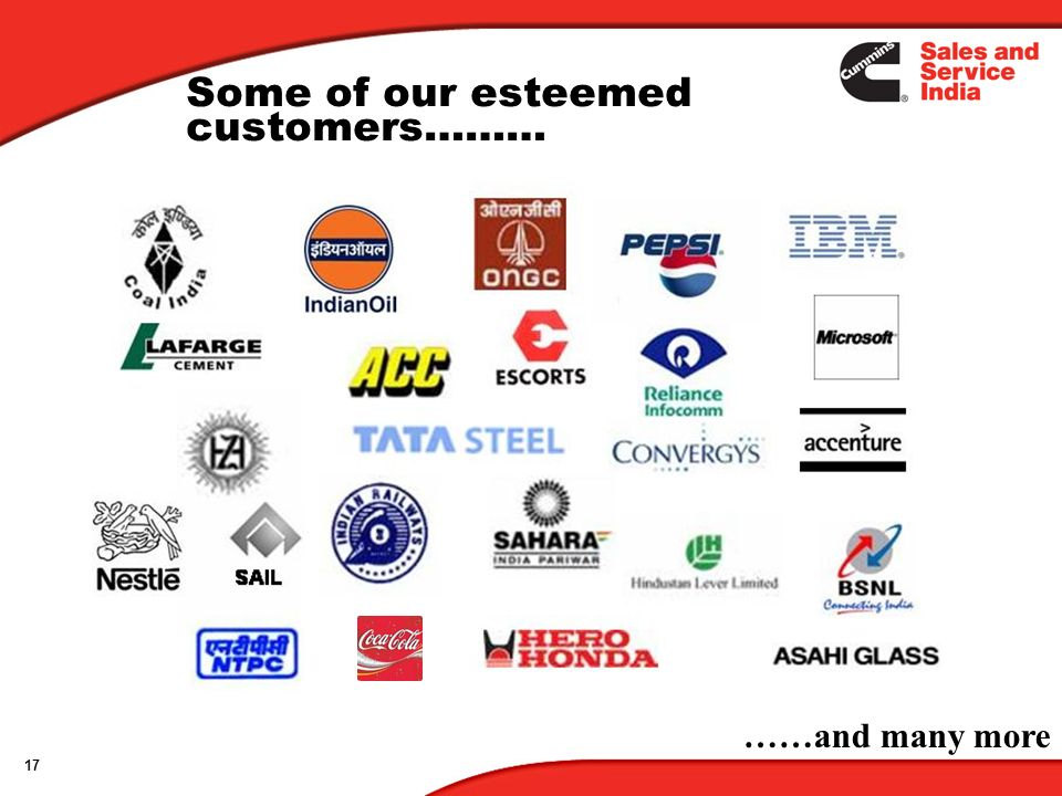 Some of our esteemed customers………