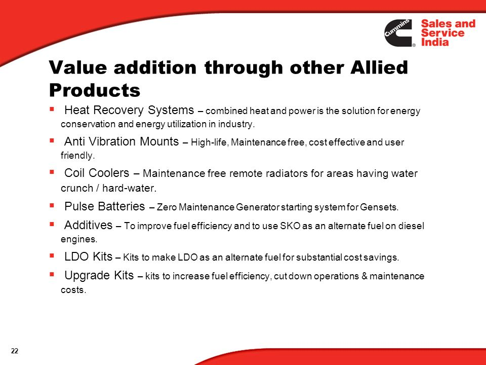 Value addition through other Allied Products