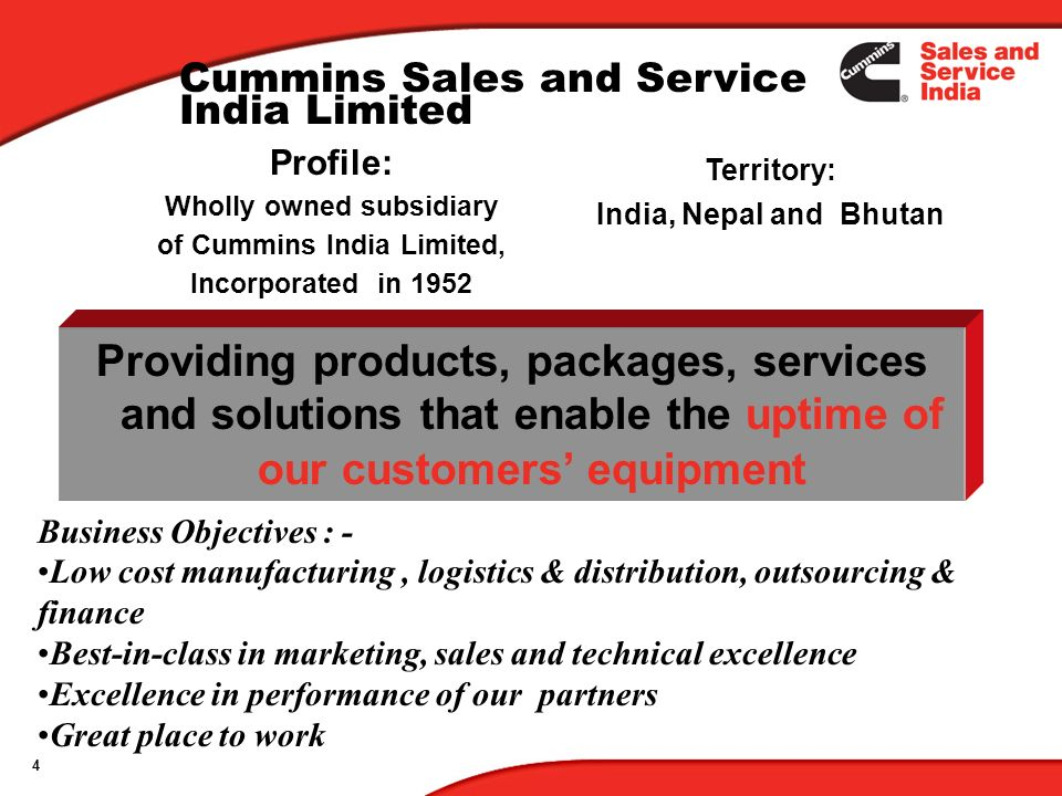 Wholly owned subsidiary of Cummins India Limited,