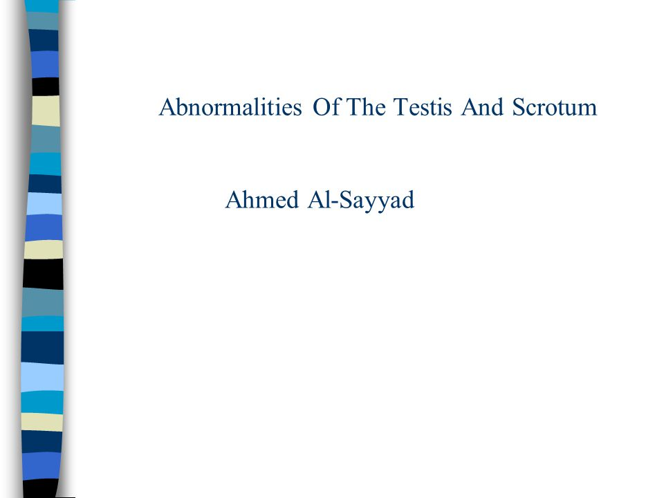 Abnormalities Of The Testis And Scrotum Ahmed Al Sayyad Ppt Video