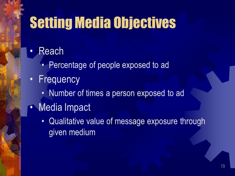 Setting Media Objectives